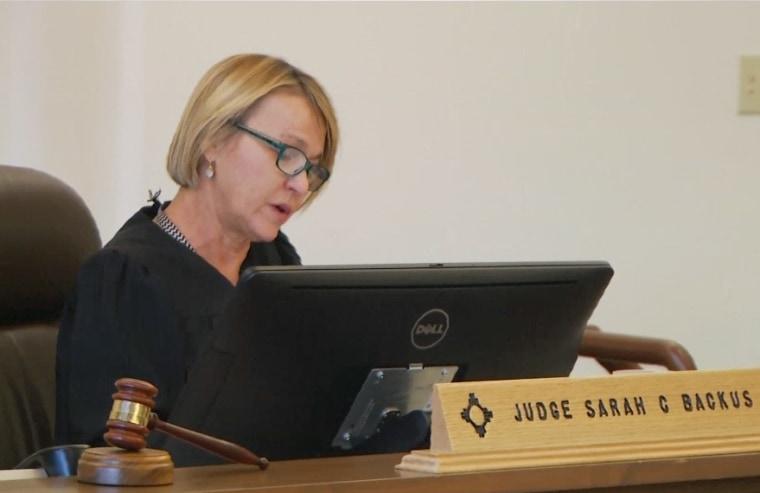 Image: Judge Sarah Backus