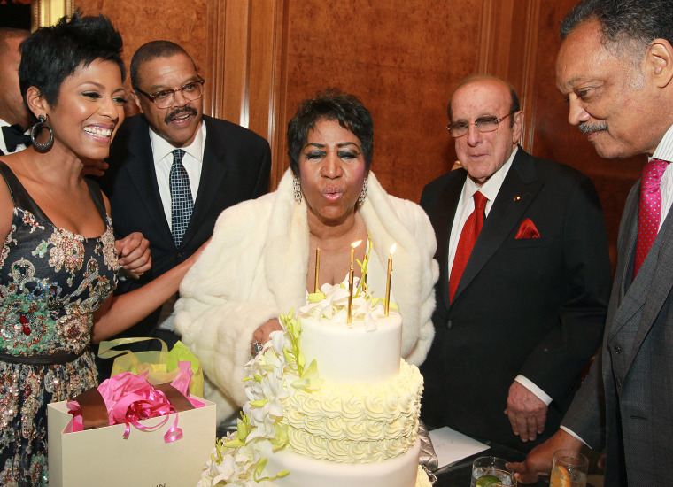 Image: Tamron Hall, Willie Wilkerson, Aretha Franklin, Clive Owens, Jesse Jackson