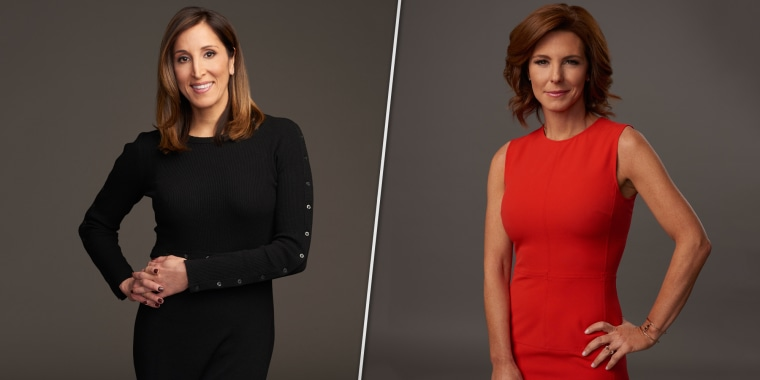 Yasmin Vossoughian, left, and Stephanie Ruhle.;