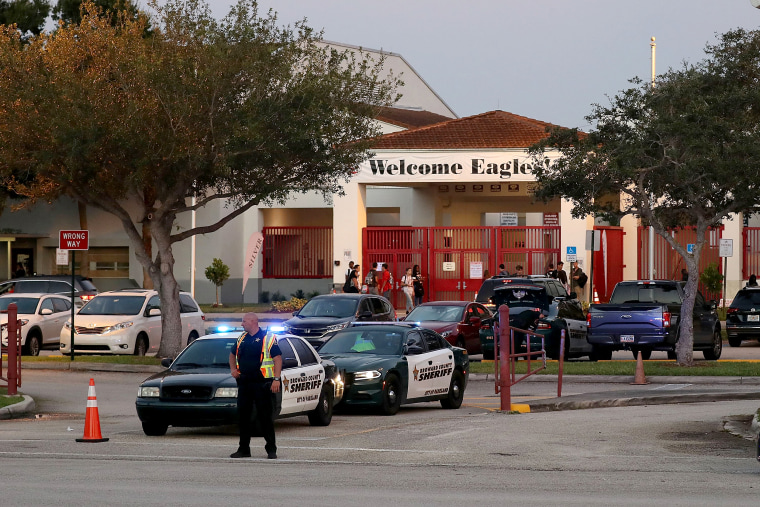 Image: First Day Of School For Students At Marjory Stoneman Douglas High School, Scene Of February Mass Shooting That Killed 17
