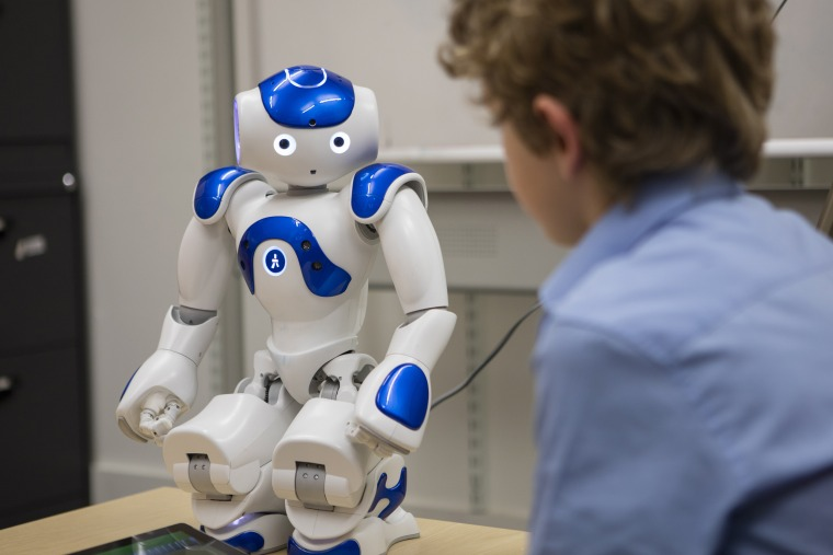 Children aged between seven and nine were more likely to give the same responses as the robots, even if they were obviously incorrect.