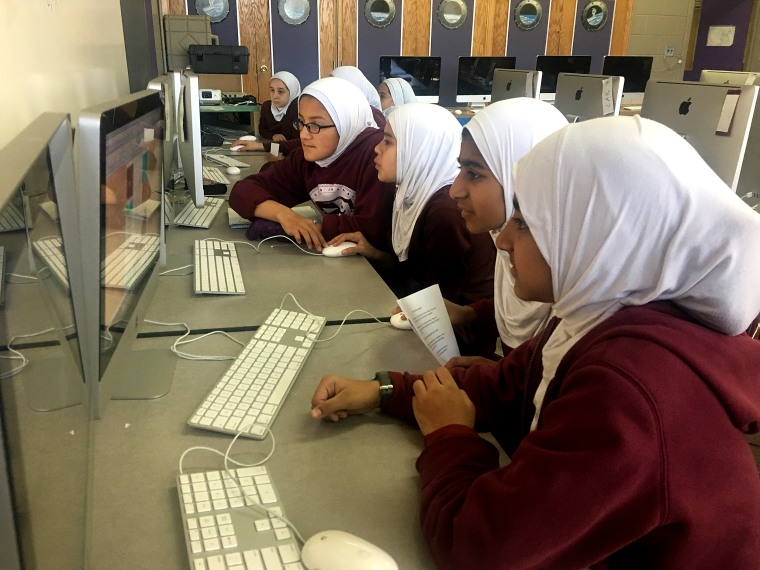MCC Academy students during a computer class.