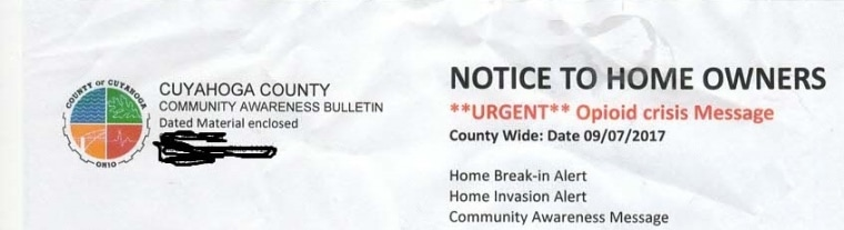 "A bogus ""Community Awareness Bulletin"" (provided by the Cuyahoga County Dept. of Consumer Affairs)"