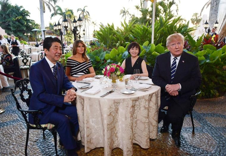 Image: Shinzo Abe, Melania Trump, Akie Abe, Donald Trump