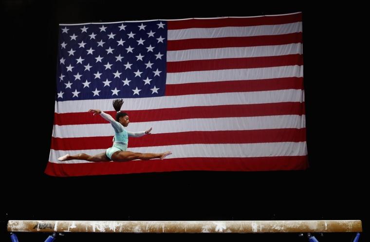 Simone Biles Dominates Gymnastics Championships Wearing Leotard For Survivors