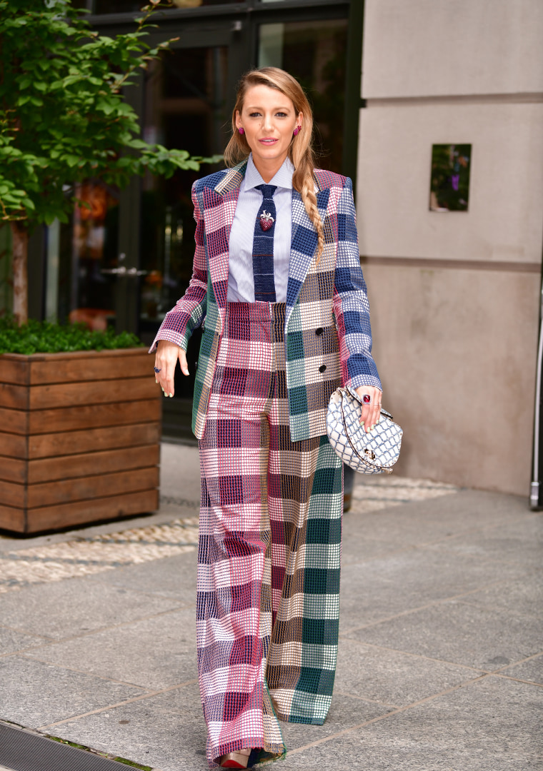 Blake Lively wears 4 pantsuits in 3 days