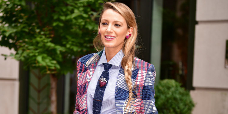 Blake Lively's pantsuit game is strong.