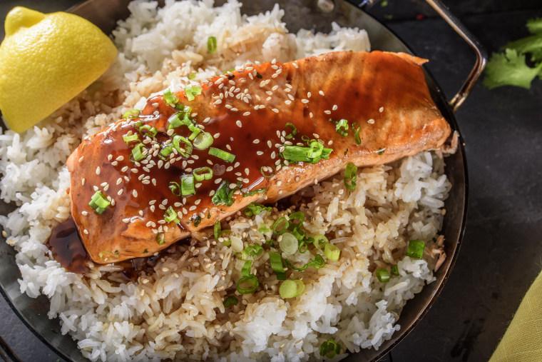 How to bake salmon, salmon teriyaki