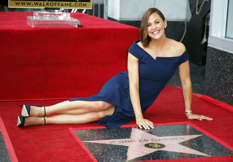 Image: US actress Jennifer Garner is honored with a star on the Hollywood Walk of Fame