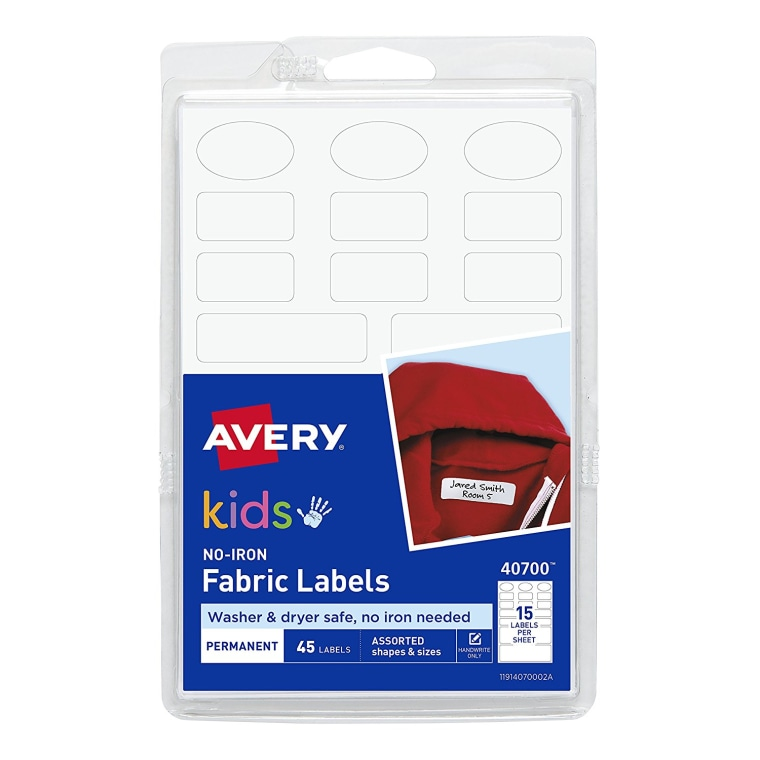 Avery No-Iron Kids Clothing Labels