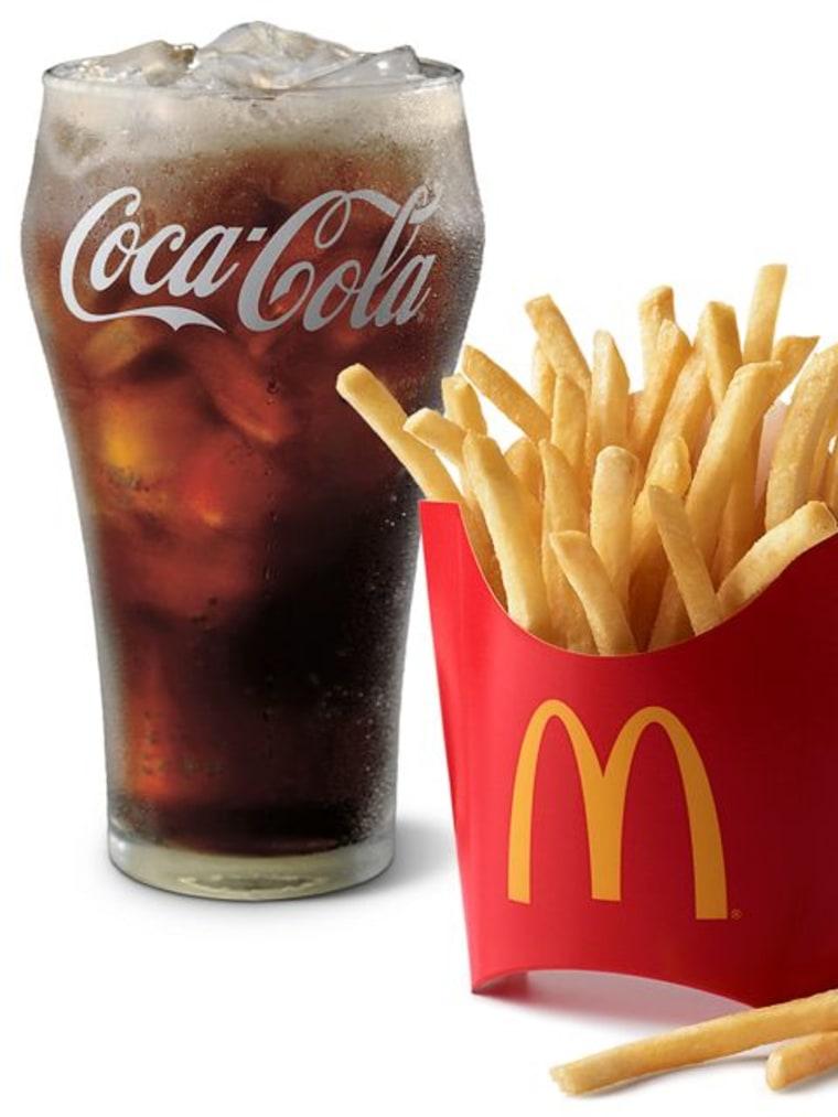 McDonald's Coca-Cola and fries