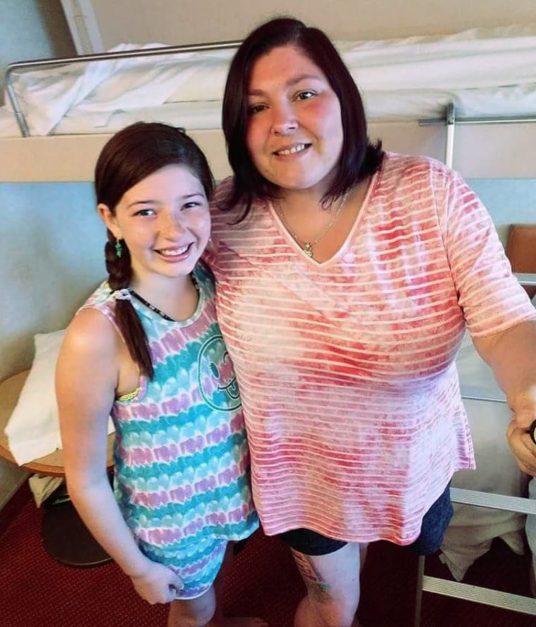 Maddie Rose and her mother Brandy