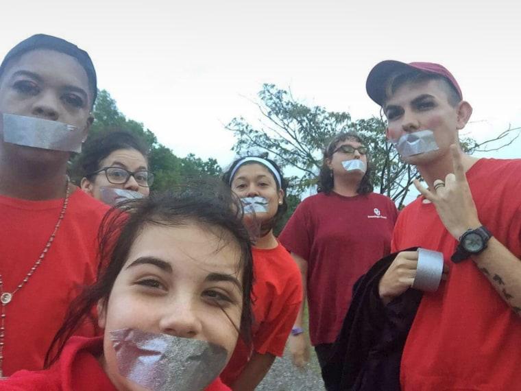 Darius Douglas organized a silent protest at the school.