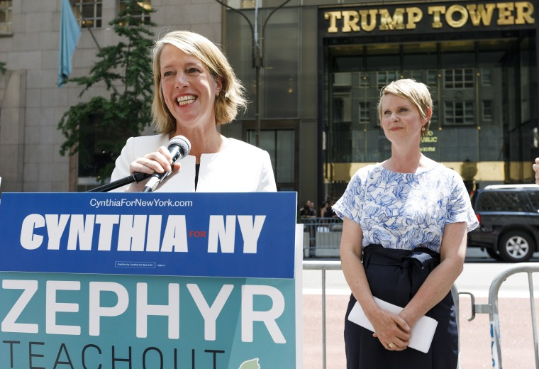 Image: Cynthia Nixon Endoreses Zephyr Teachout for NY Attorney General