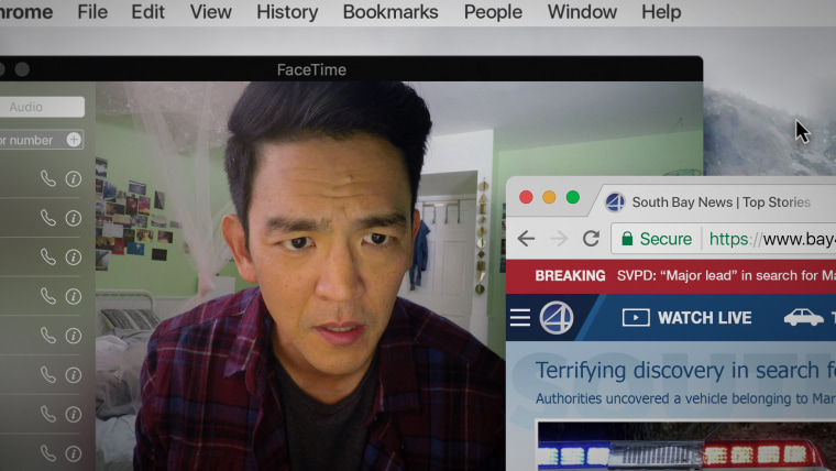 """John Cho stars as David Kim in """"Searching,"""" a thriller about a father's search for his missing daughter"""
