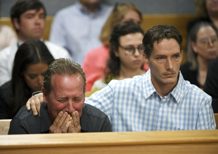 Image: Frank Rzucek the father of Shanann Watts, left, and her brother Frankie Rzucek