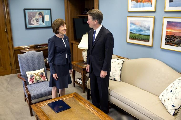 Image: Supreme Court Nominee Brett Kavanaugh Meets With Democratic Senators On Capitol HIll