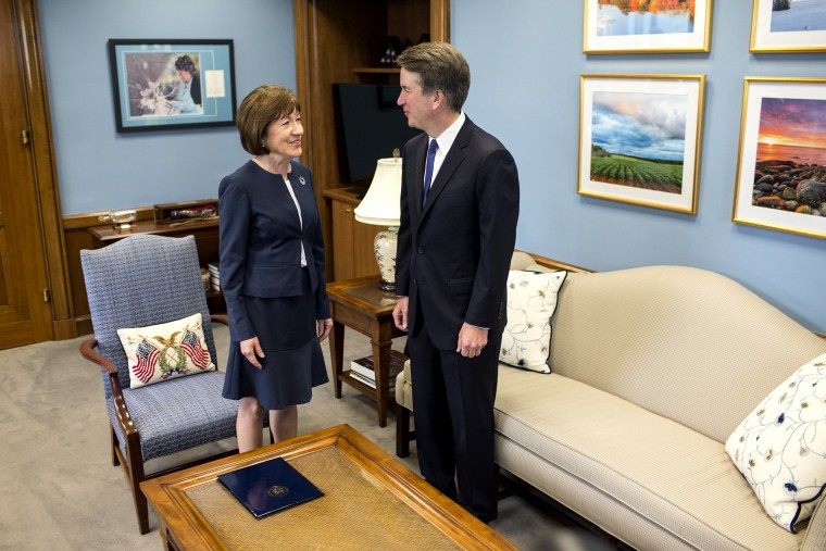 Image: Supreme Court Nominee Brett Kavanaugh Meets With Democratic Senators On Capitol HIll