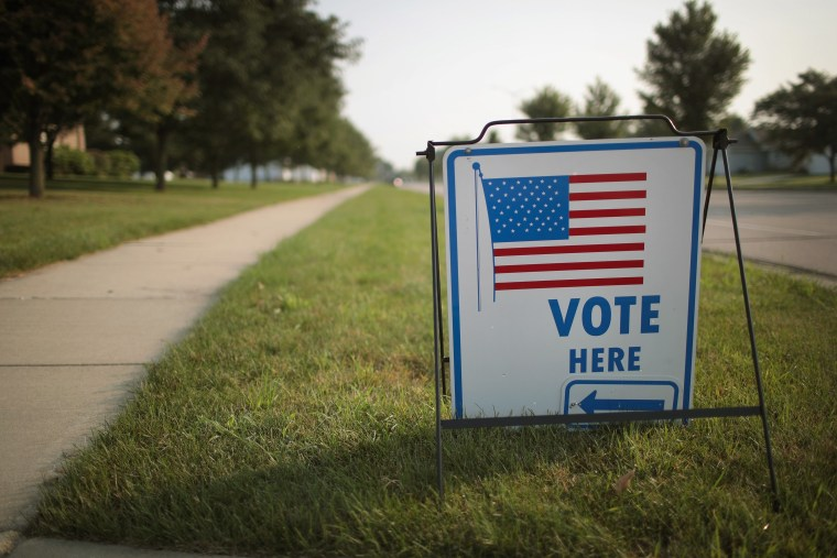 Image: Voters Go To The Polls In Wisconsin's Primary Elections