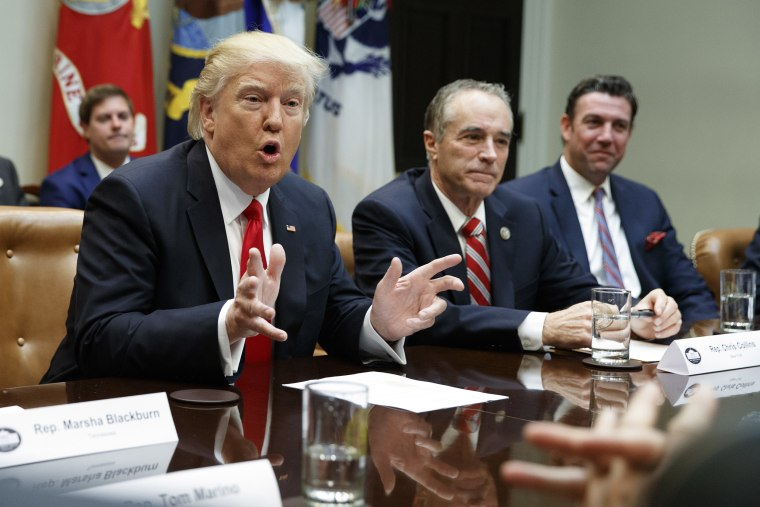 Image: Donald Trump, Benjamin Netanyahu, Chris Collins, Duncan Hunter