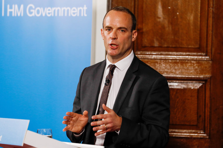 British Government Brexit secretary Dominic Raab statement