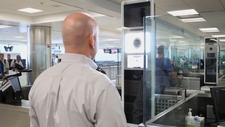 Facial recognition technology at Washington Dulles Airport.