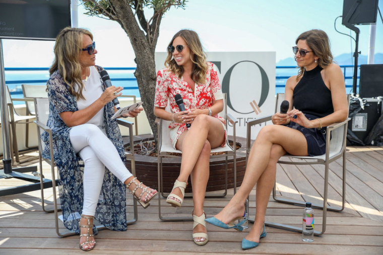 Shelley Zalis, CEO, The Female Quotient, with TheSkimm co-founders Danielle Weisberg and Carly Zakin at the Girls' Lounge at Cannes in 2018.