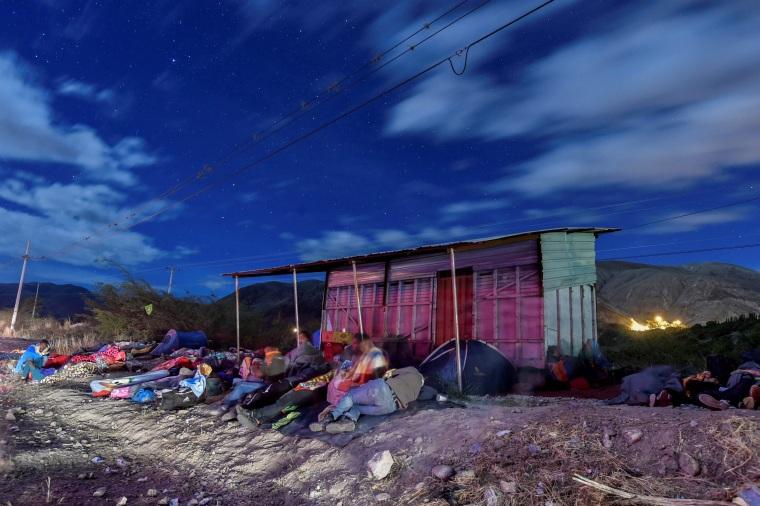 Image: TOPSHOT-ECUADOR-PERU-VENEZUELA-MIGRATION