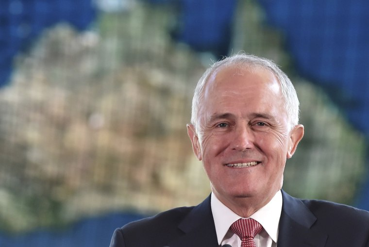 Australian Prime Minister Malcolm Turnbull delivers a speech at the National Museum of Emerging Science and Innovation in Tokyo