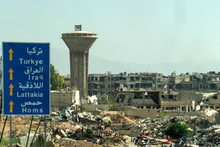 Image: Douma has been devastated by years of war