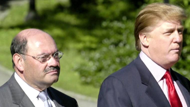 Trump Organization CFO Allen Weisselberg and Donald Trump.