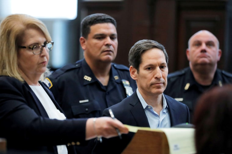 Image: Former head of the Centers for Disease Control and Prevention, Tom Frieden (C), appears in Brooklyn's criminal court for his arraignment in New York