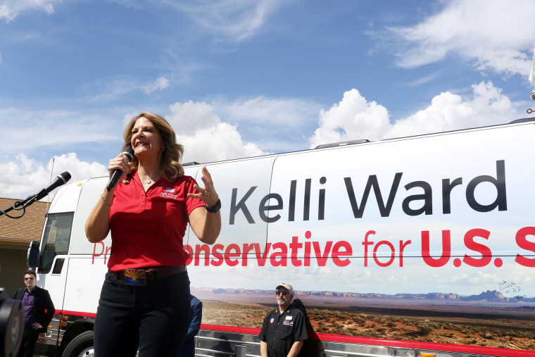 Image: Kelli Ward campaigns at the Gunsite academy in Paulden