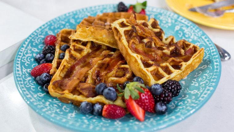 Al Roker's recipe for homemade bacon waffles