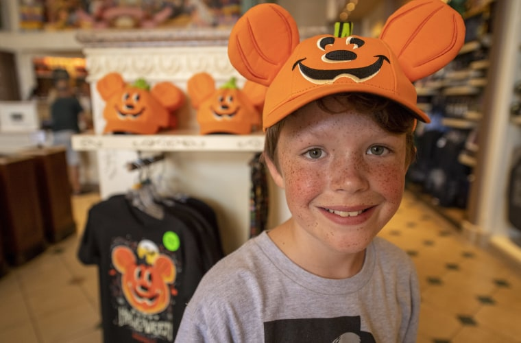 From light up trick-or-treat buckets to baseball hats, Miller says Mickey Mouse pumpkins play a large role in the 2018 Halloween merchandise line.