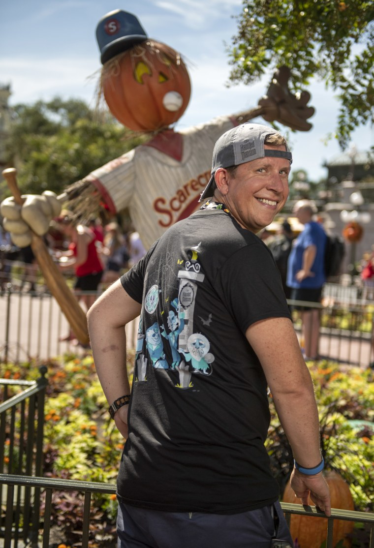 The ghosts of Disney's iconic Haunted Mansion attraction adorn much of the newly released Halloween merchandise at Walt Disney World.
