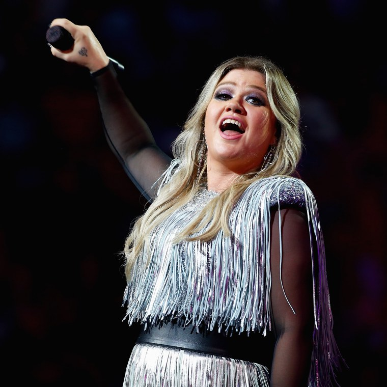 Kelly Clarkson performs at US Open