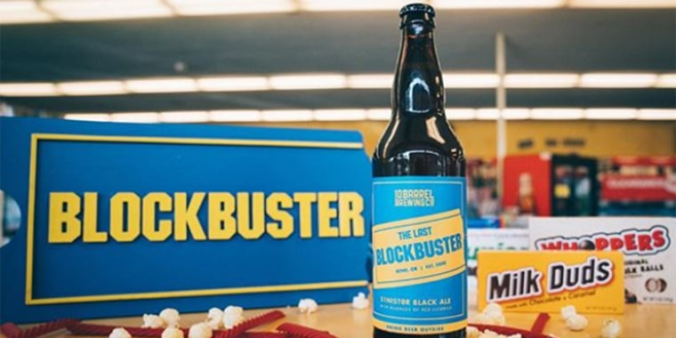 Food team story on beer in honor of the last Blockbuster video