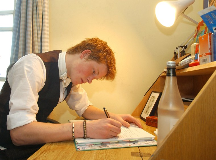Prince Harry At His Desk