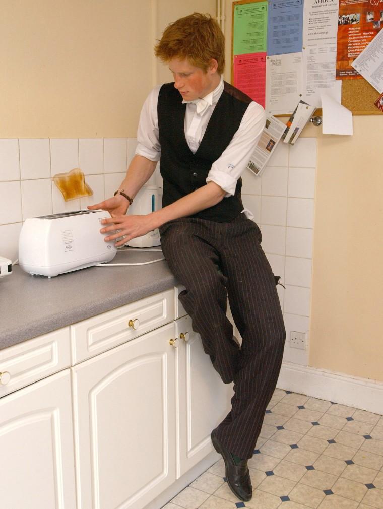 Prince Harry Makes Toast