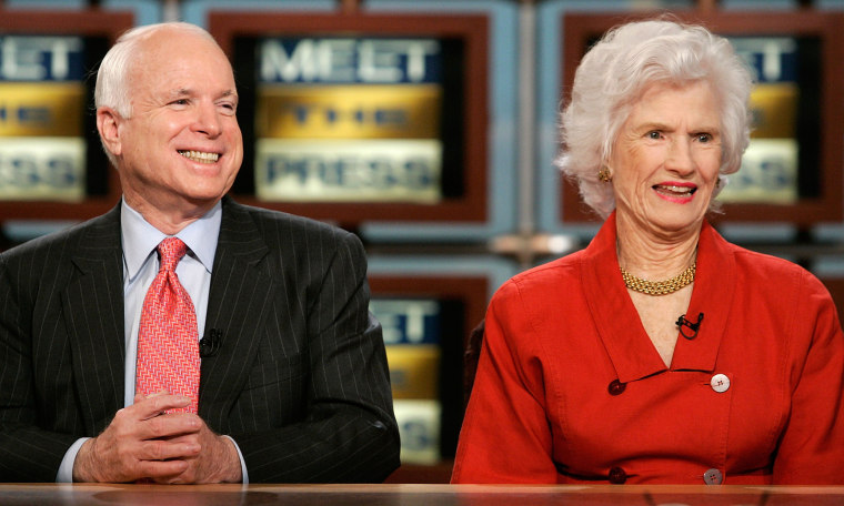 McCain's 106-year-old mother expected to attend memorial service