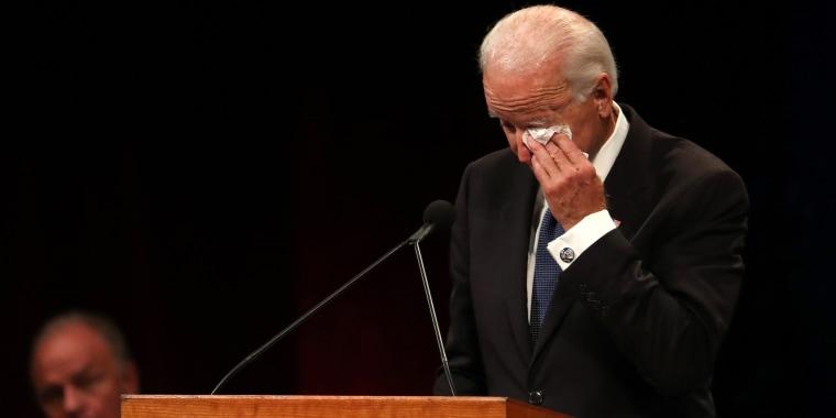 Joe Biden speaks at John McCain service