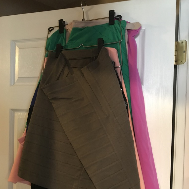I can fit up to 12 skirts on this one hanger!