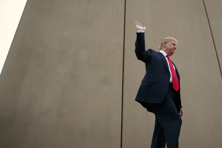 Trump tours U.S.-Mexico border wall prototypes