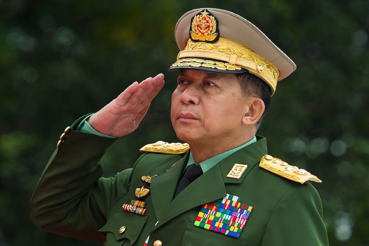 Image: Min Aung Hlaing, commander-in-chief of the Myanmar armed forces, will be removed from Facebook.