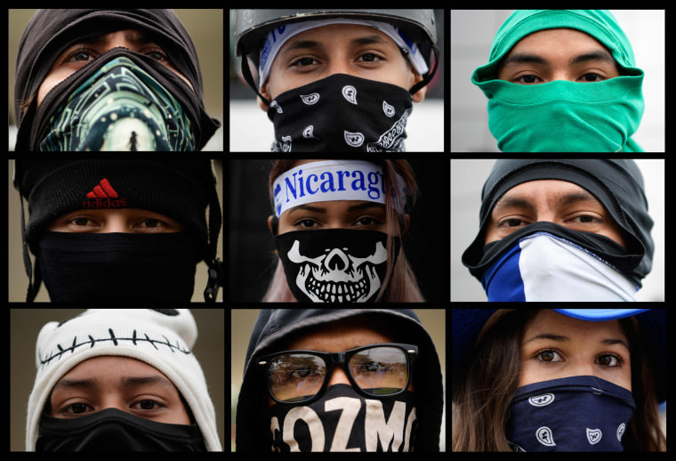 Image: Nicaraguan university students participate in a protest