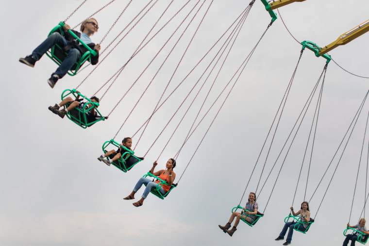 Image: Laurencia Starblanket spends an afternoon with her boyfriend and siblings at the state fair in Missoula