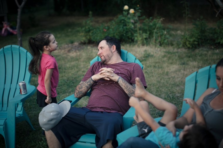 Image: Ryan Ranalli spends an evening with his family