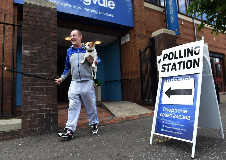 Image: The United Kingdom Goes To The Polls In The EU Referendum