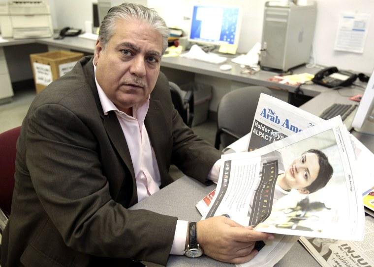 Image: Editor and publisher of the 'The Arab American News' newspaper Osama Siblani